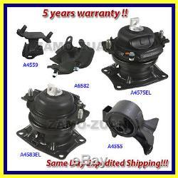 05-06 Honda Odyssey 3.5L Touring / EX-L Engine Motor & Trans Mount Set 5PCS