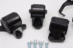 1320 Performance B & D motor mount 2 bolt driver side billet 96-00 EK Black 65A