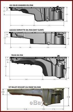 19212593 GM LS Swap Muscle Car Oil Pan LS1 LS2 LS3 LQ4 LQ9 LSX ICT Billet