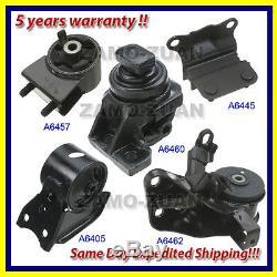 1993-1997 Mazda MX-6 2.5L Motor & Trans. Mount Kit 5PCS for Manual Transmission