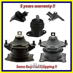 2004-2008 Acura TL 3.2L / 3.5L Motor Mount Set 5PCS. For Auto same day fast ship