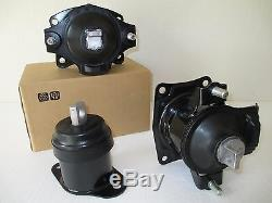 2004-2008 Set Of 3 Motor Mounts For Acura Tl With Manual Transmission