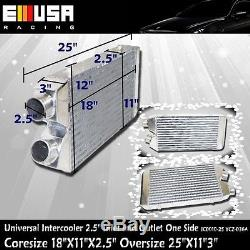 2.5 I&O Universal Intercooler 25X113 One Side YCZ-036A