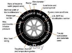 2-Pack Trailer Tire and Rim ST185/80R13 LRD 13X5 5-4.5 Mach Black Wheel T07