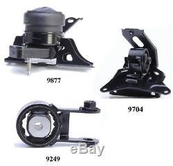 3 PCS MOTOR & TRANS MOUNT FOR 2007-2011 Toyota Yaris 1.5L Engine Auto Trans