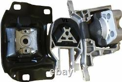 3pc Engine & Transmission Mount For 2012-2016 Ford Focus 2.0l Fast Free Shipping