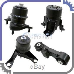 4pc Engine Motor Mount Kit for 10-11 Toyota Camry 2.5L Automatic Transmission AT