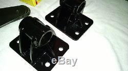 6BT Cummins conversion universal Motor Mount. Low profile powder coated Black
