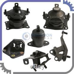 6pc Set 03-07 Honda Accord 2.4L AT Engine Motor Mounts Auto Transmission