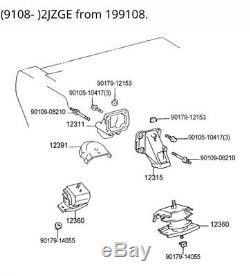 92-00 SC300 94-98 Toyota Supra 2JZ OEM L& R Pair Engine Motor Mounts JZZ31 JZA80