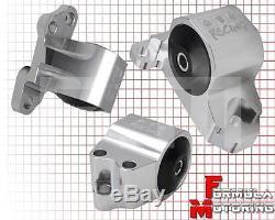 92-95 Honda CIVIC Eg Solid Steel Motor Engine Mount Kit For B-series Motor Silv