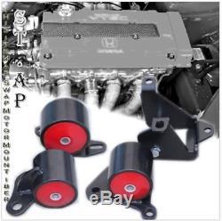 96-00 Civic D15/D16 B16 B17 B20 4Pc Manuel Engine Swap Motor Mounts Replacement