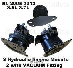9R3520 3Hydraulic Engine Mounts fit AUTO 3.5L 3.7L Motor 2005 2012 Acura RL