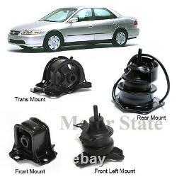 AT Trans Engine Motor Mounts Kit For 98-02 Honda Accord 2.3L AT Trans