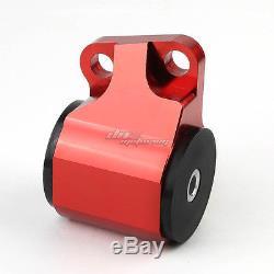 Aluminum 2-bolt Engine Torque Mount Red For 92-95 Civic/-00 Integra B/d Swap
