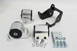 Billet 3-bolt Engine Motor Mount Kit CIVIC Ek D15 D16 B16 B18 B20 B D Series