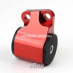 Billet Aluminum 2-bolt Engine Mount Kit Eg Eh/dc D15/d16 B16/b18 Swap Motor Red