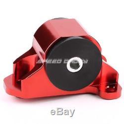 Billet Aluminum 3-bolt Engine Mount Kit Eg Eh/dc D15/d16 B16/b18 Swap Motor Red