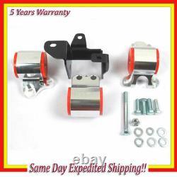 Billet Aluminum Engine Motor Mounts Kit For Honda Civic 96-00 EK B & D Series