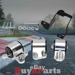 Billet Aluminum Motor Mounts Conversion Swap Kit For Civic 96-00 EK D-B Series