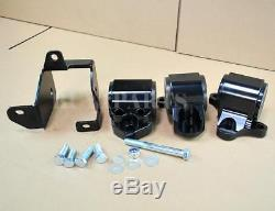 Black Billet Aluminum Motor Mounts Swap Kit For 96-00 Honda Civic EK D-B Series