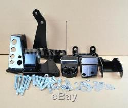 Black Billet Motor Mount Swap Kit For Civic 1992-1995 EG K-Series K20 K24 Engine