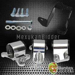 Chrome Billet Motor Swap Mount Kit For Civic 96-00 D-B Series B16 B17 B20 D15/16
