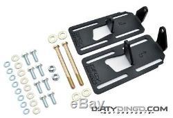 Dirty Dingo Adjustable Conversion Engine Mounts LS Swap 88-98 4WD GM Truck Black