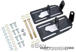 Dirty Dingo Adjustable Engine Swap Mounts LS1 G-Body/82-92 F Body Black Coated