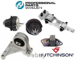 Engine Motor Mount Kit 5pcs ProParts OEM Hutchinson Volvo S60 S80 V70 XC70 XC90