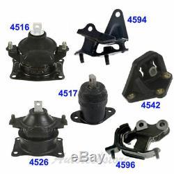 Engine Motor & Trans Mount For 03-07 Honda Accord 2.4L Kit Set 6PCS Manual M1014