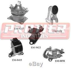 Engine Motor & Trans Mount Set 2005-2006 Honda Odyssey 3.5L LX / EX