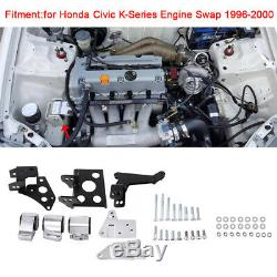 Engine Mount Bracket K-Swap EK Chassis for 96 97 98 99 00 Civic K20 K24 K-Series