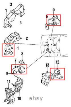 Engine & Trans. Mount 4PCS Set 1991-1999 Mitsubishi 3000GT 2WD/ Dodge Stealth