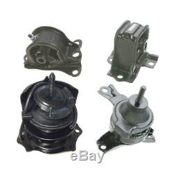 Engine & Trans Mount 4PCS. With Vacuum Pin for 98-02 Honda Accord 2.3L for Auto
