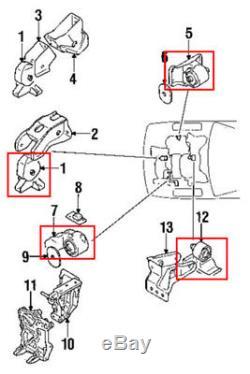 Engine & Trans. Mount Set 4PCS. 1991-1999 Mitsubishi 3000GT 2WD / Dodge Stealth