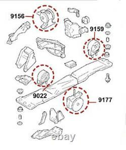 Engine & Transmission mounts set 4 Pcs for Suzuki Aerio 2.0L 2.3L (FWD)