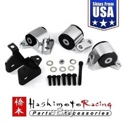 Fits 1996-2000 Honda Civic B D Series Hashimoto Solid Billet Engine Motor Mounts