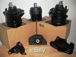 Fits 2003-2005 Honda Accord Set Of 6 Motor & Transmission Mounts (3.0l, V6, At)