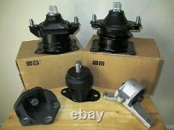 Fits 2007-2008 Acura Tl (3.5l, 3.2l, A/t) Set Of 5 Engine & Transmission Mounts
