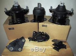 Fits Acura Tl (2004-2006, 3.2l, V6, At) - Set Of 6 Motor & Transmission Mounts
