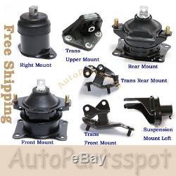 For 04-08 Acura TSX 2.4L Engine Motor & Trans Mount Kit 7PCS AT Trans G271