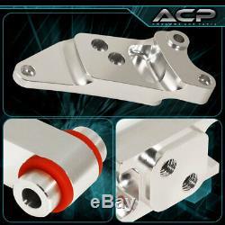 For 06-11 Civic Si Aluminum Motor Engine Mount Silver Red Polyurethane Bushing