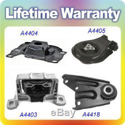 For 2004-2009 Mazda 3, 2.3L witho Turbo Engine Motor & Trans Mount Set 4PCS M457