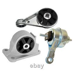Front & Rear Engine Mount Set 3PCS. 02-06 for Mini Cooper 1.6L, Cooper S 1.6L