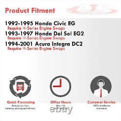 H22 H23 3PCS Motor Mount Swap Conversion Brackets For 1992-1995 Honda Civic EG
