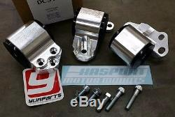 HASPORT DCSTK Billet Motor Mounts Kit for CIVIC 92-95 / INTEGRA 94-01 3-BOLT 62A