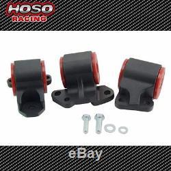 HOSO Racing Motor Mount Kit 92-95 B16 D16 Eg Civic 2 Bolt Post Mount Billet