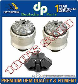 HYDRO ENGINE MOTOR + TRANSMISSION MOUNTS for MERCEDES W124 300E 300D E320 SET 3