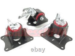 INNOVATIVE FOR 04-08 Acura TL J-Series Black Steel Mounts 75A